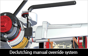 Declutching manual override system