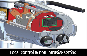 Local control & non intrusive setting